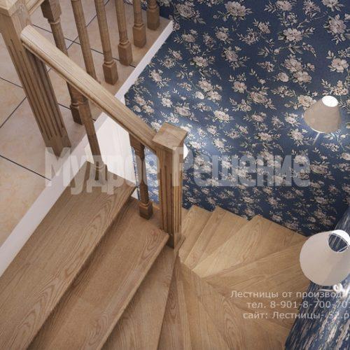 деревянная лестница на заказ модель 1 вид 4