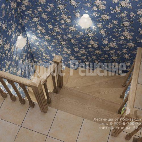 деревянная лестница на заказ модель 1 вид 5