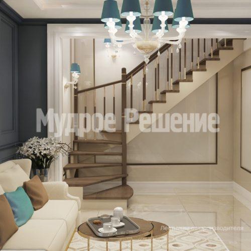 Деревянная лестница-6