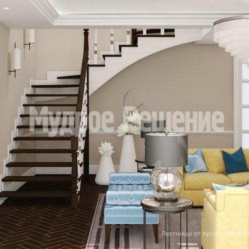 Деревянная лестница-7