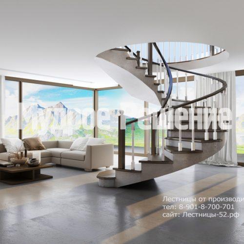 лестница из бетона модель 2