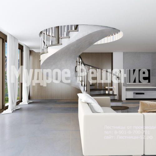 лестница из бетона модель 2 вид 3