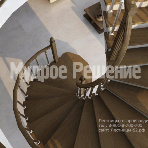 лестница из бетона модель 2 вид 4