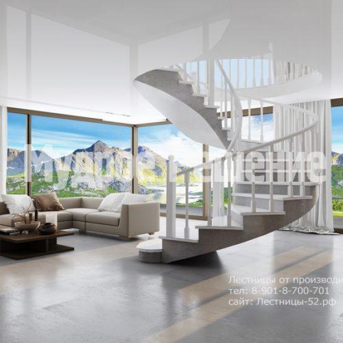 бетонная лестница модель 1