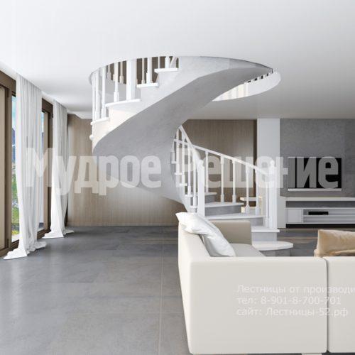 бетонная лестница модель 1 вид 3