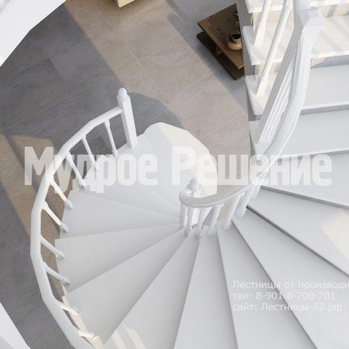 бетонная лестница модель 1 вид 4