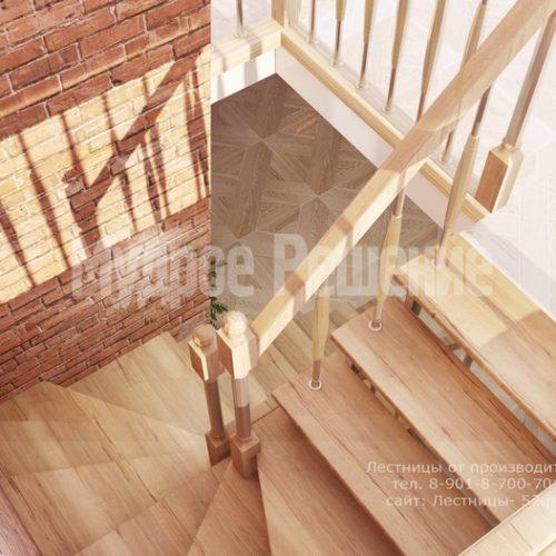 лестница на металлическом каркасе проект 2 вид 4