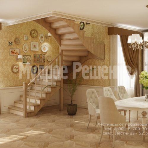 лестница из дерева модель 3