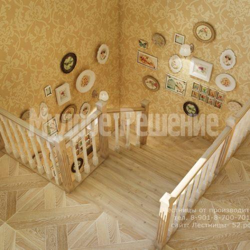 лестница из дерева модель 3 вид 5