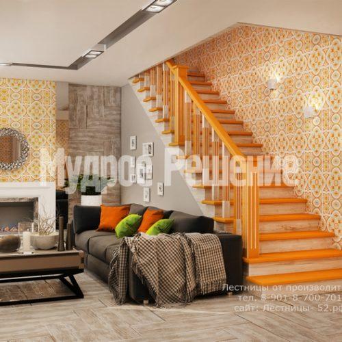 деревянная лестница в доме проект 4