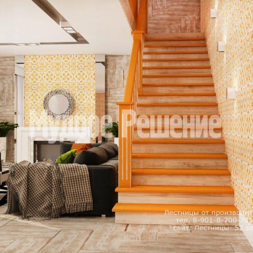 деревянная лестница в доме проект 4 вид 3