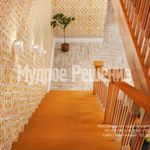 деревянная лестница в доме проект 4 вид 4