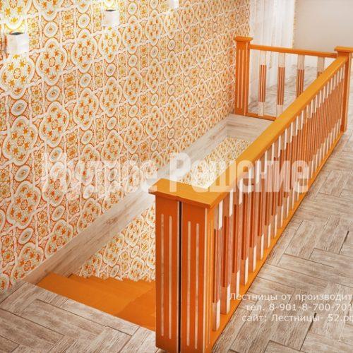 деревянная лестница в доме проект 4 вид 5