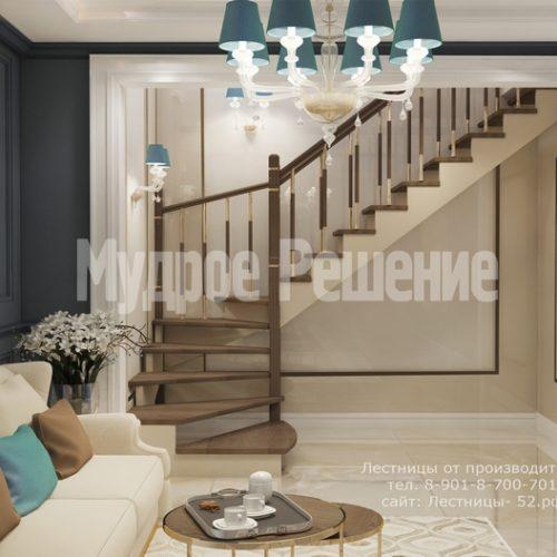 деревянная лестница проект 5 вид 2