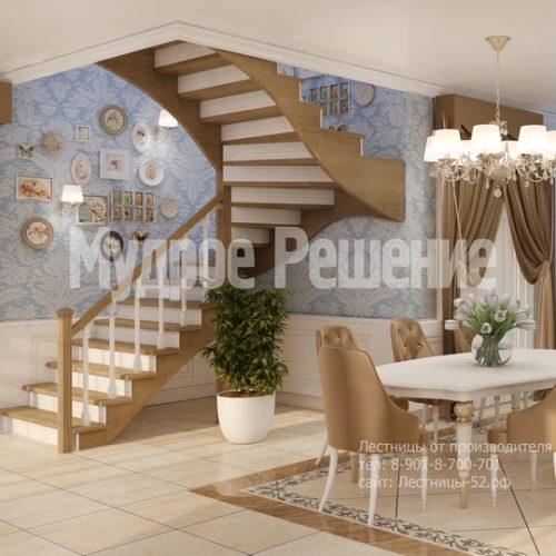 лестница из дерева модель 6