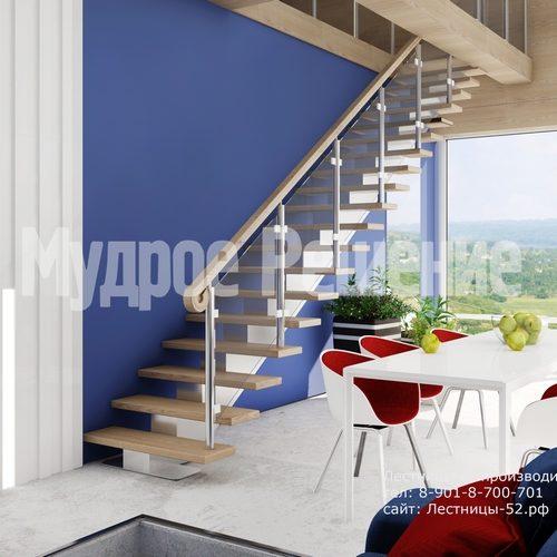 лестница на металлокаркасе проект 1
