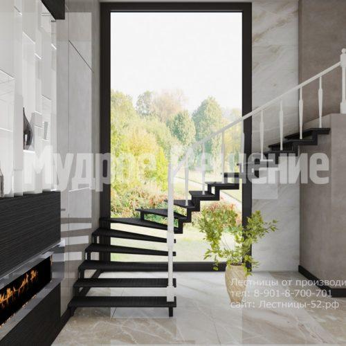 лестница на металлокаркасе модель 5 вид 2