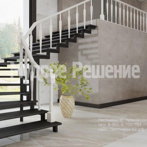 лестница на металлокаркасе модель 5 вид 3