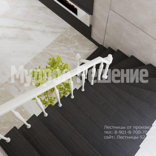 лестница на металлокаркасе модель 5 вид 4