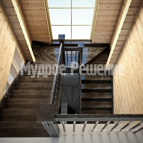 Деревянная лестница-11