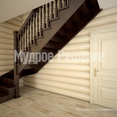 Деревянная лестница-16