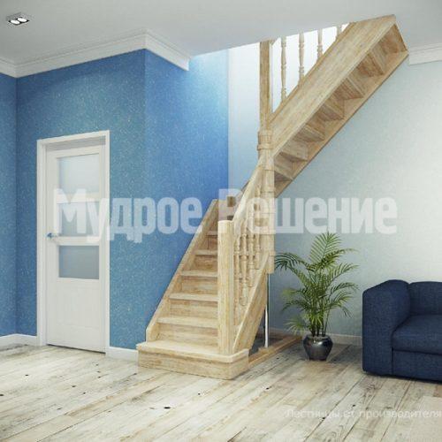 Деревянная лестница-18