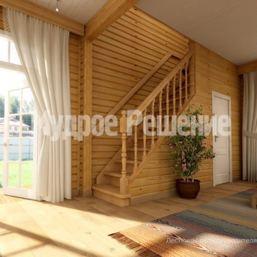 Деревянная лестница-19