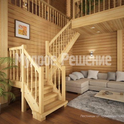 Деревянная лестница-20