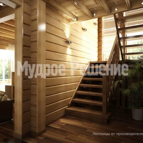 Деревянная лестница-21