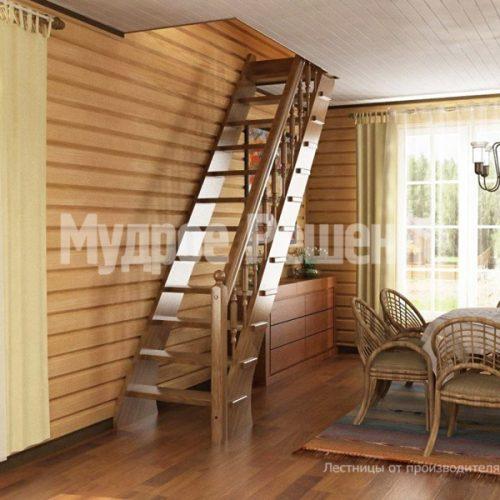 Деревянная лестница-22