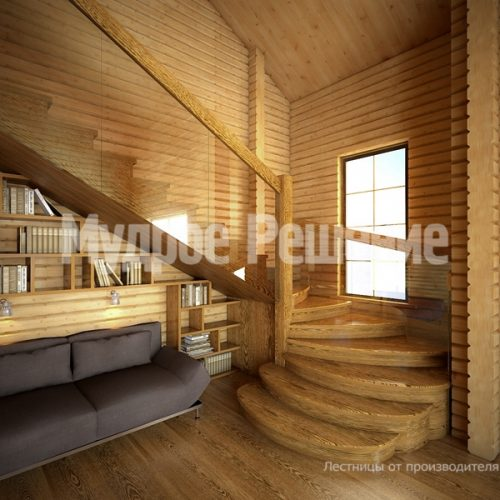 Деревянная лестница-25