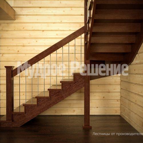 Деревянная лестница-26