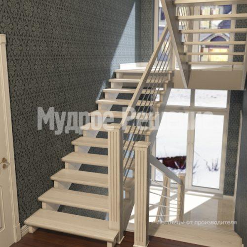 Деревянная лестница-30