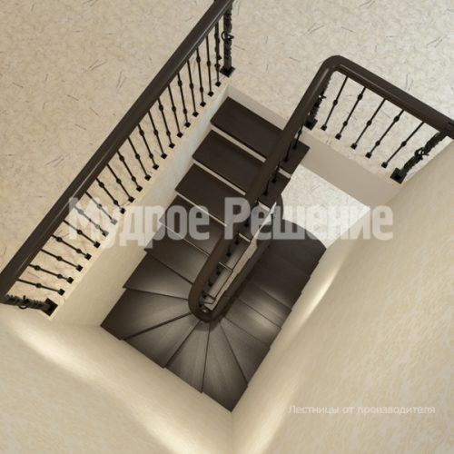 Деревянная лестница-32