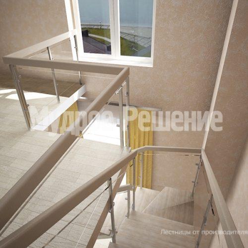 Металлическая лестница-8