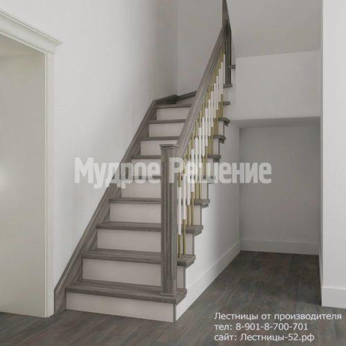 Лестница на больцах модель 4 вид 2