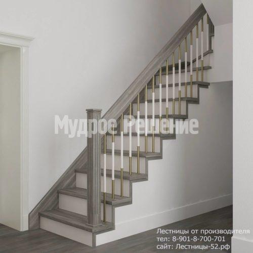 Лестница на больцах модель 4 вид 1