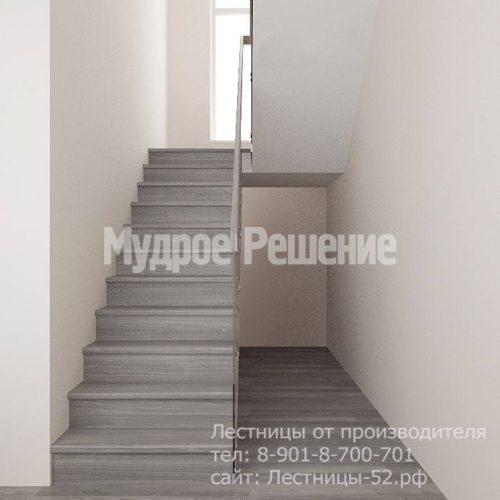 Лестница на больцах на второй этаж модель 8 вид 2