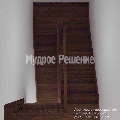 Лестница деревянная на второй этаж модель 12 вид 2
