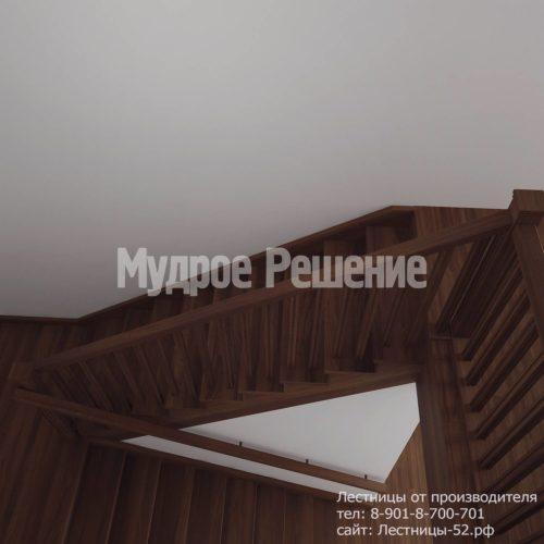Лестница деревянная на второй этаж модель 12 вид 4