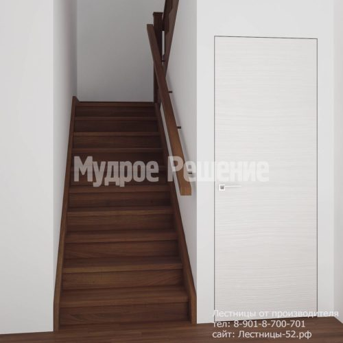 Лестница деревянная на второй этаж модель 12 вид 1