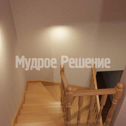Деревянная лестница модель 15 вид 4