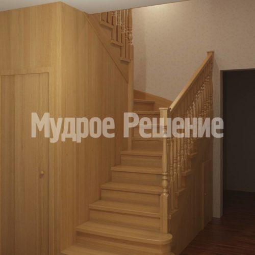 Деревянная лестница модель 15 вид 1