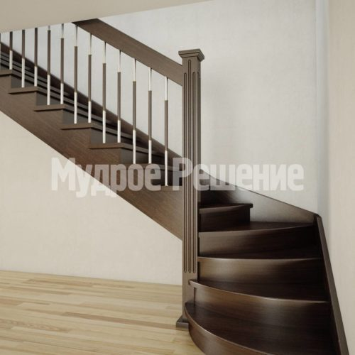 Лестница на второй этаж на заказ вид 1