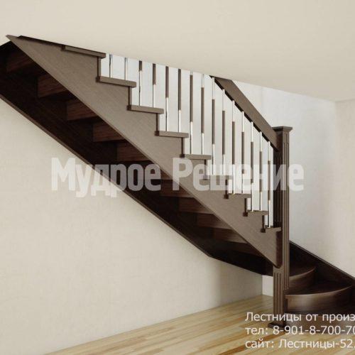 Лестница на второй этаж на заказ вид 2