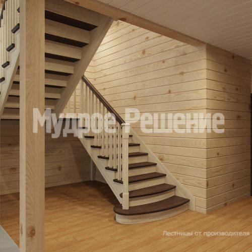 Деревянная лестница-35