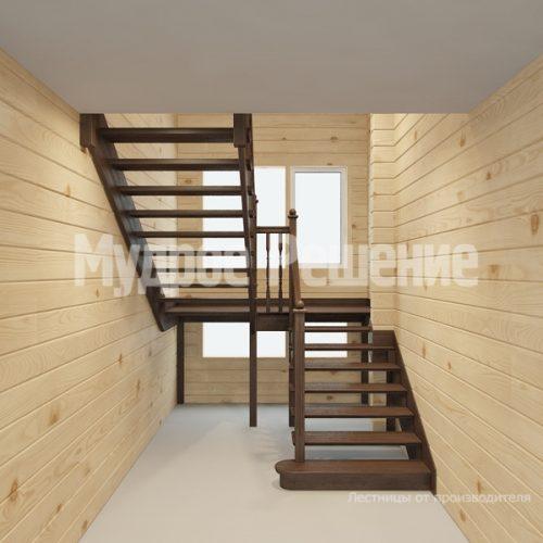 Деревянная лестница-36