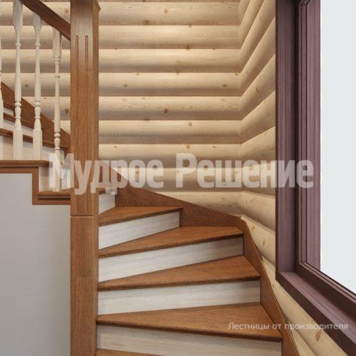 Деревянная лестница-37