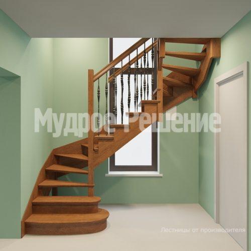 Деревянная лестница-39