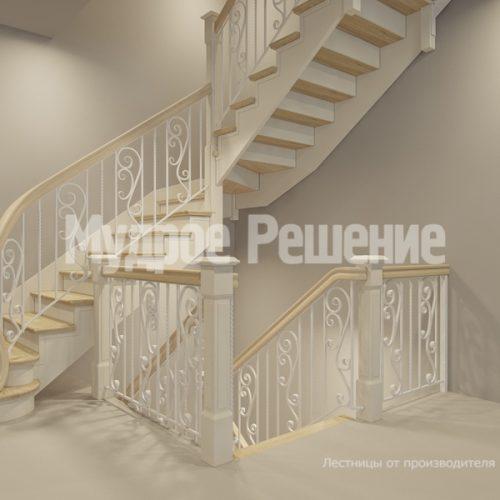 Деревянная лестница-40